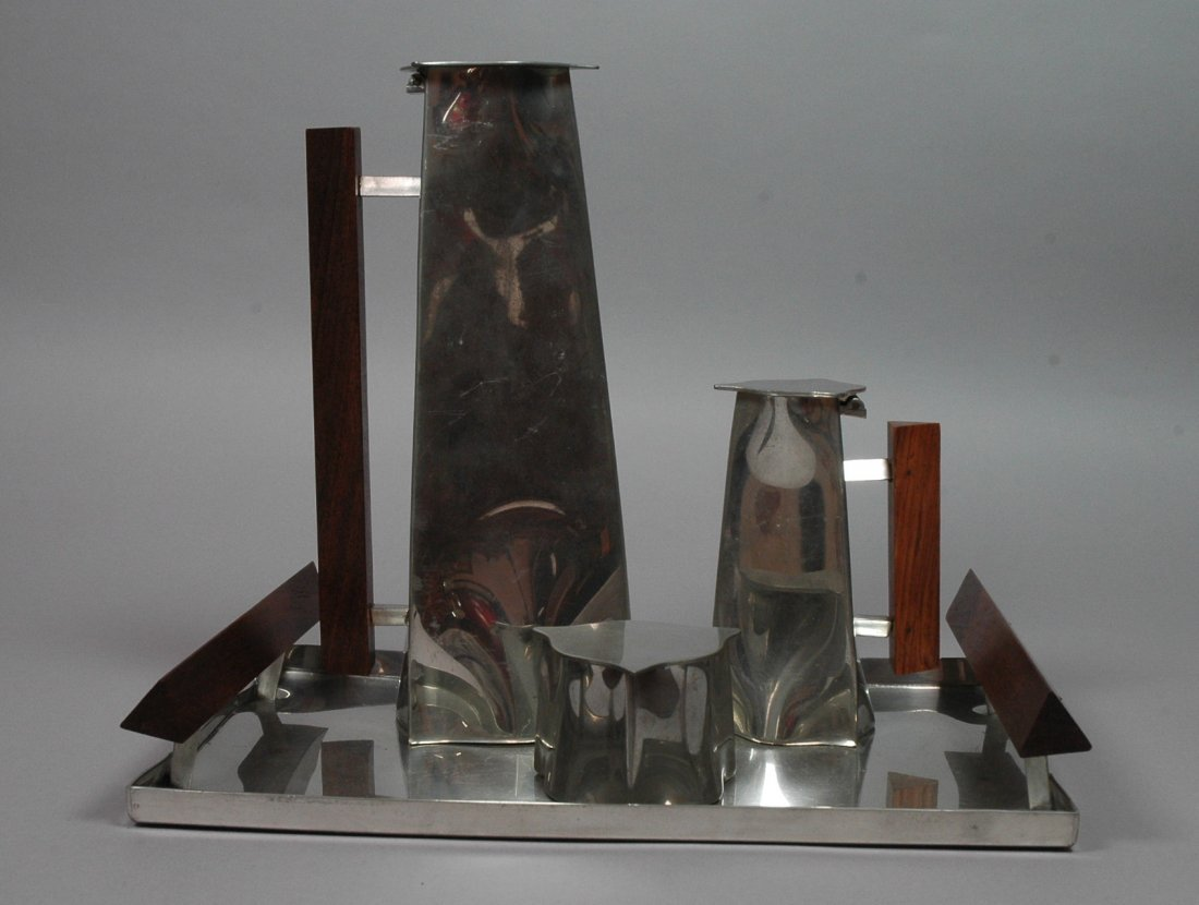 4pc  Pewter Crafters Coffee Service.  Cape Cod. P