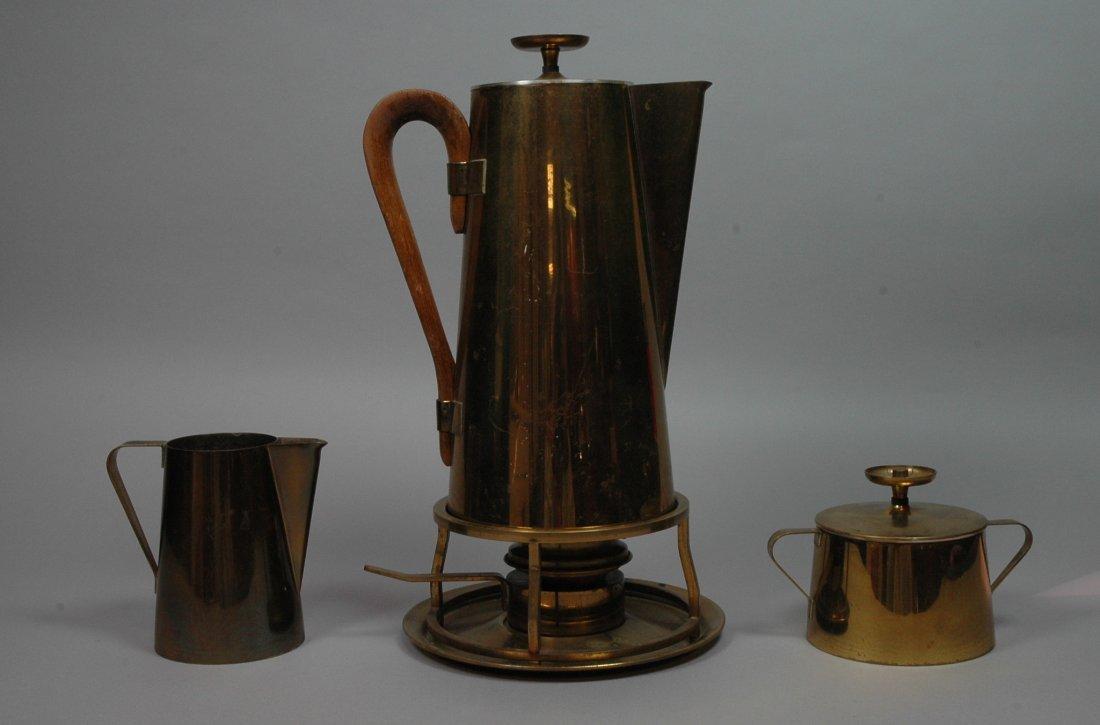 4pcs Tommi Parzinger Coffee Service. Brass by Dor