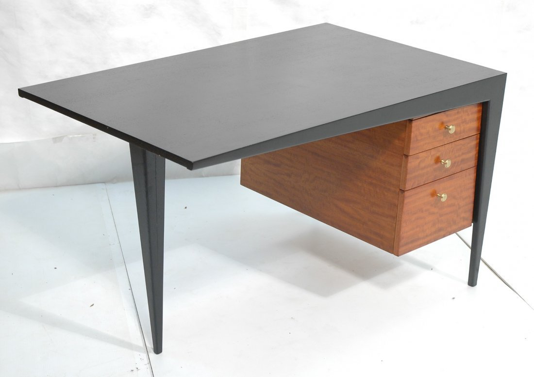 Frankl Style Desk with Angular Frame.  Ebonized t