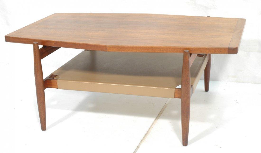 American Modern JENS RISOM Trapezoidal Table. Lea