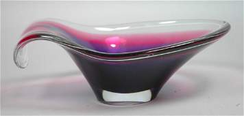 Paul Kedelv Flygsfors Art Glass Bowl. Coquille 6