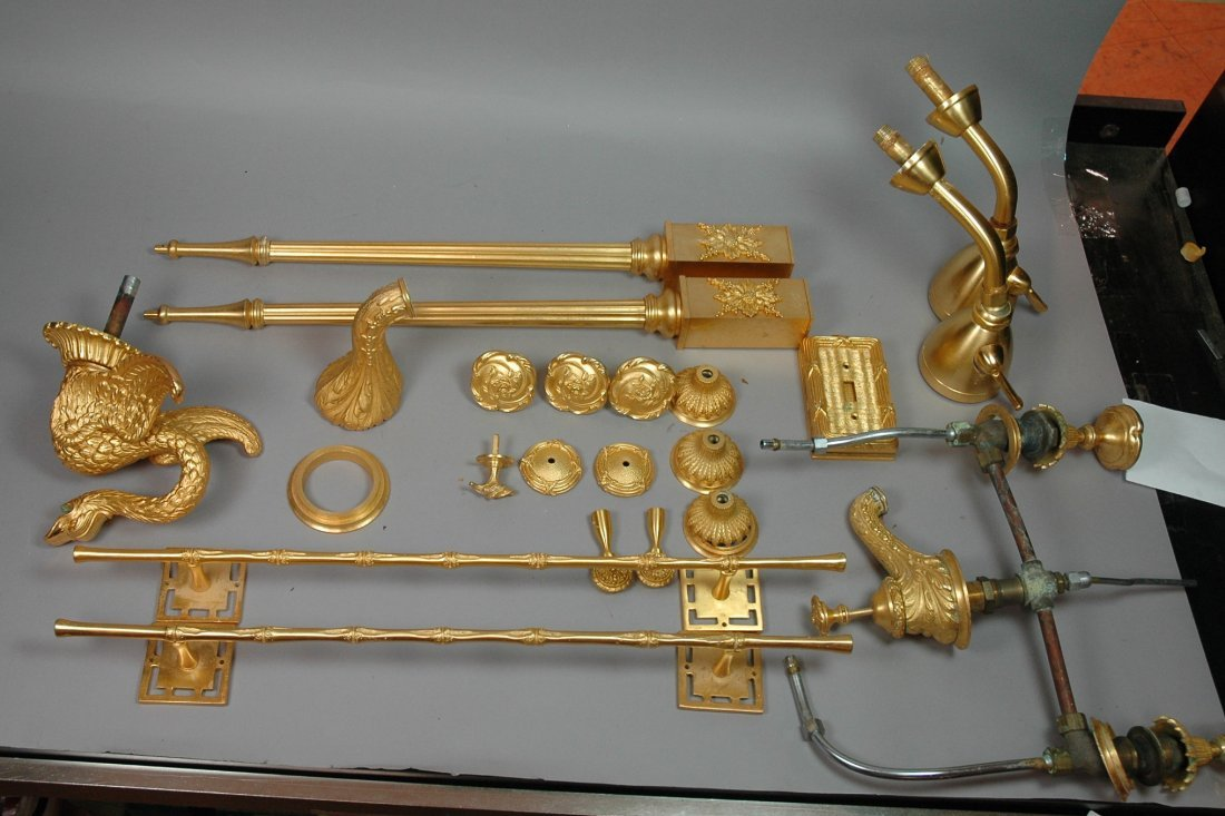 24pc SHERLE WAGNER Gold Plated Bathroom Accessori