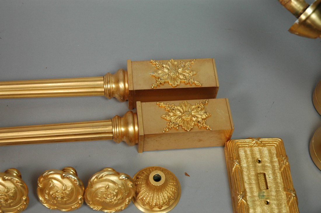 24pc SHERLE WAGNER Gold Plated Bathroom Accessori - 5