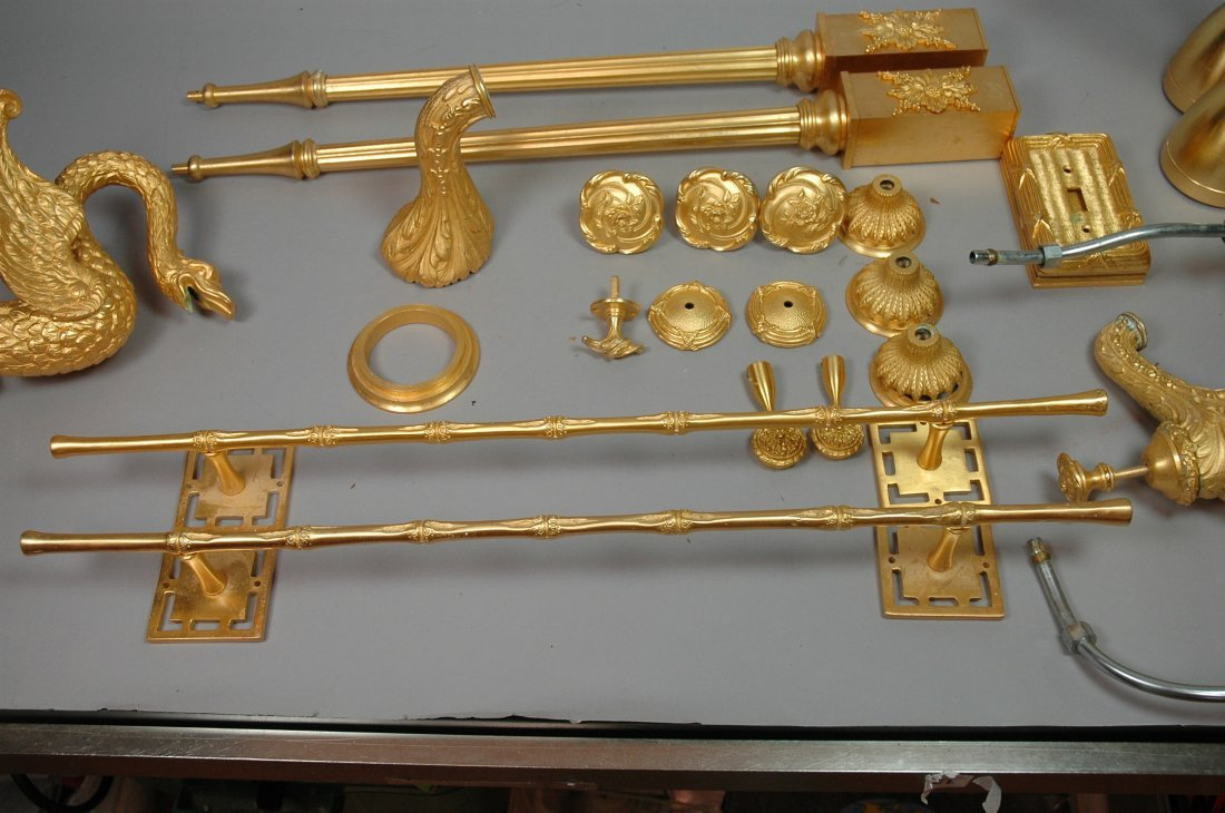 24pc SHERLE WAGNER Gold Plated Bathroom Accessori - 7