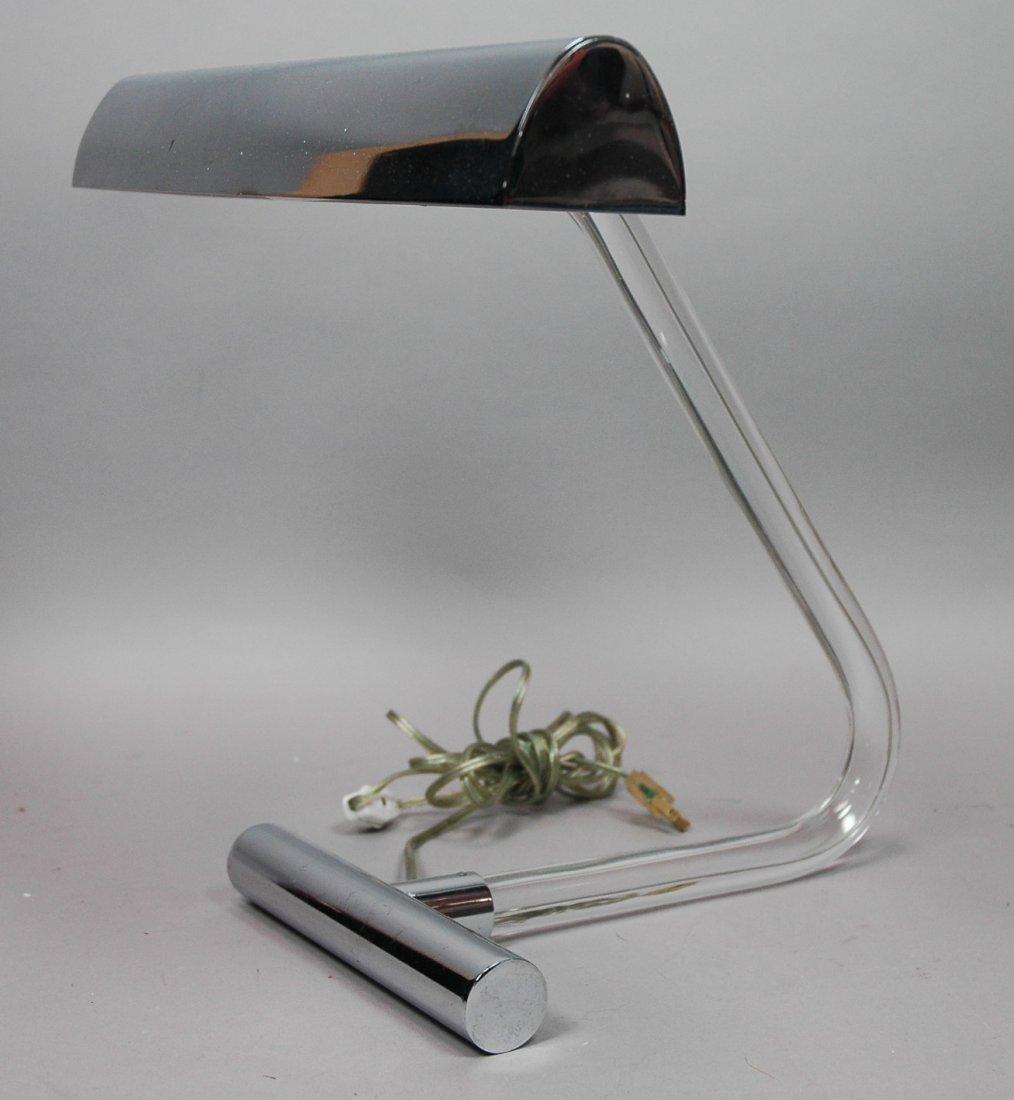 PETER HAMBURGER Chrome Desk Lamp. KOVAKS. Chrome