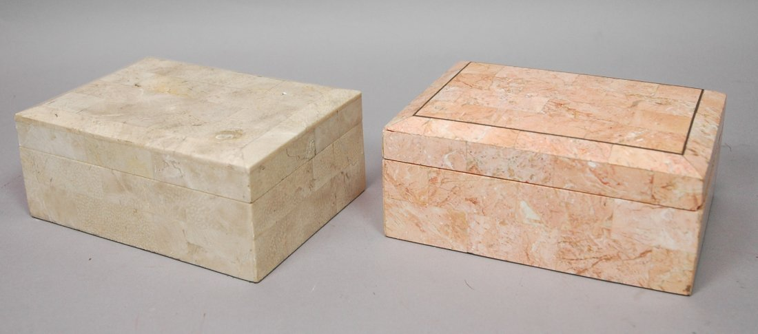 Two MAITLAND SMITH style Jewelry Boxes. Two stone