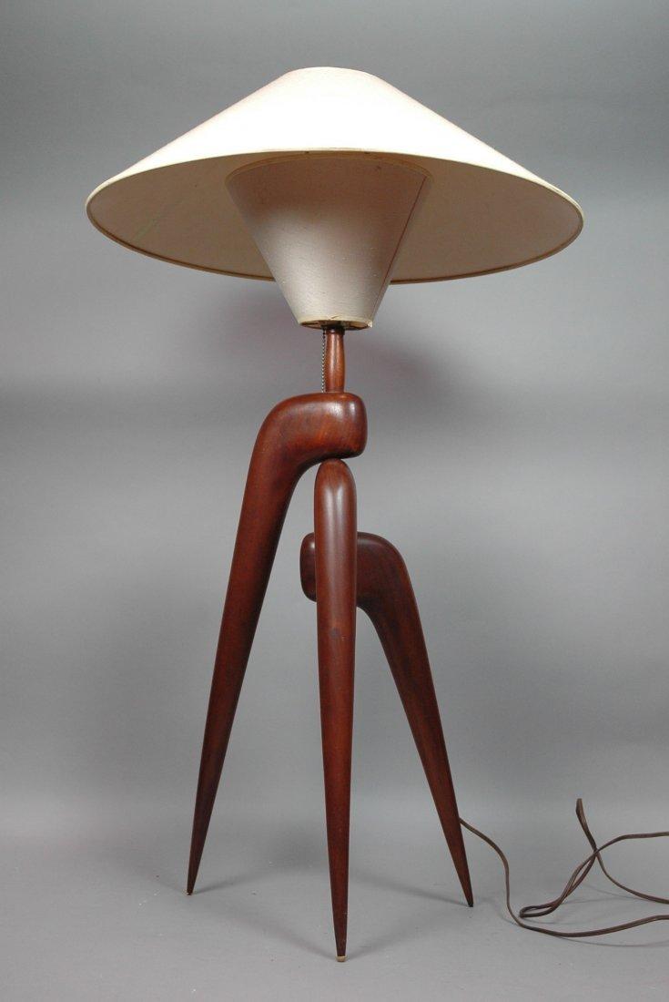 American Modern Walnut Phillip Powell Style Table
