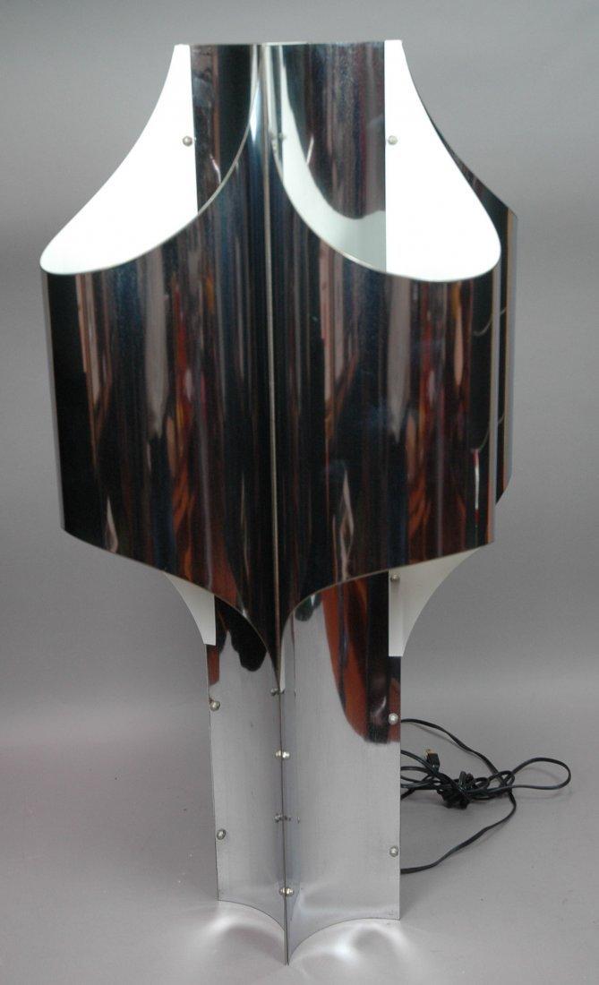 ROBERT SONNEMAN Chrome Four Lobed Tall Table Lamp