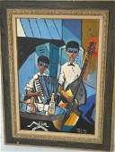 NICHOLAS TAKIS Oil Painting on Canvas Musicians