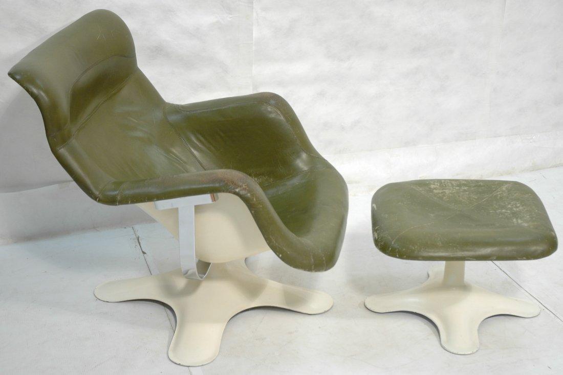 YRJO KUKKAPURO Karuselli Chair & Ottoman. Finland