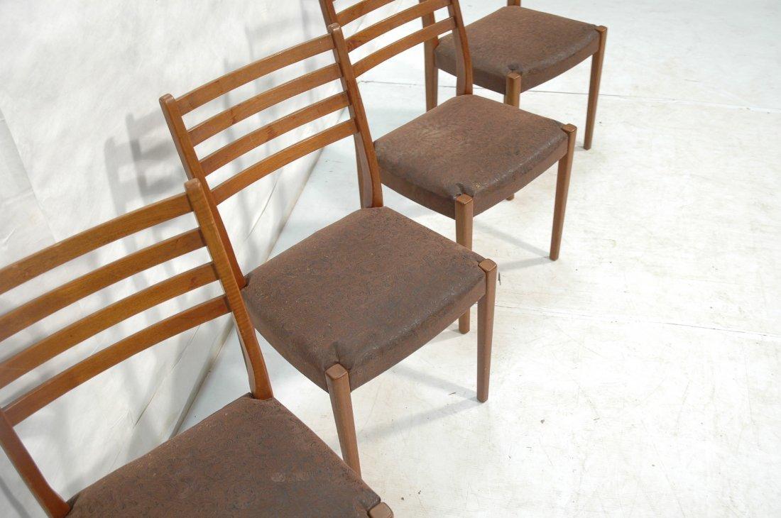 Set 4 SVEGARDS MARKARYD Swedish Teak Dining Chair - 3