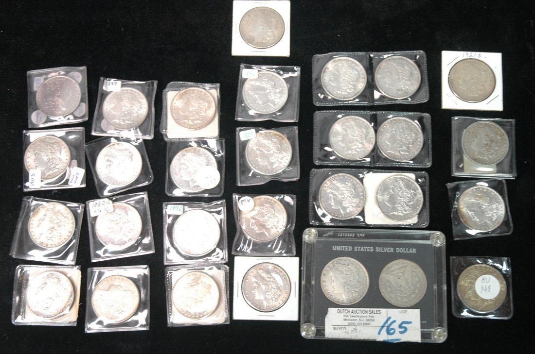29 American Morgan Silver Dollars.  Mixed dates 1