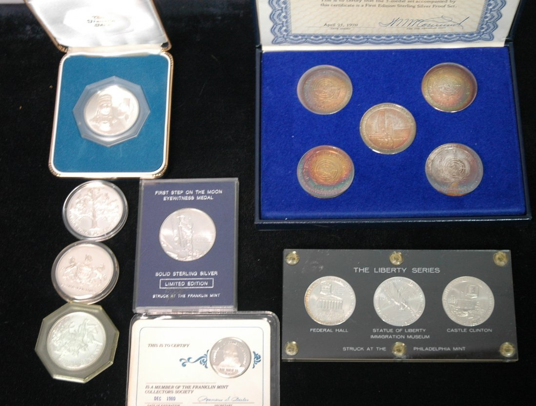 14pcs Silver Commemorative Ingots.  Liberty serie