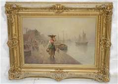 F Conding Oil Painting on Canvas  Dutch scene