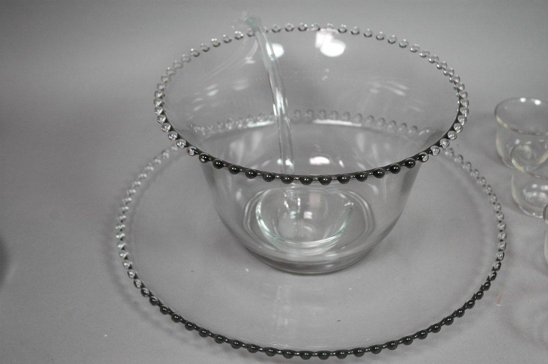 Candlewick Punch Bowl Set. Bowl, Ladle, Tray & 12 - 2