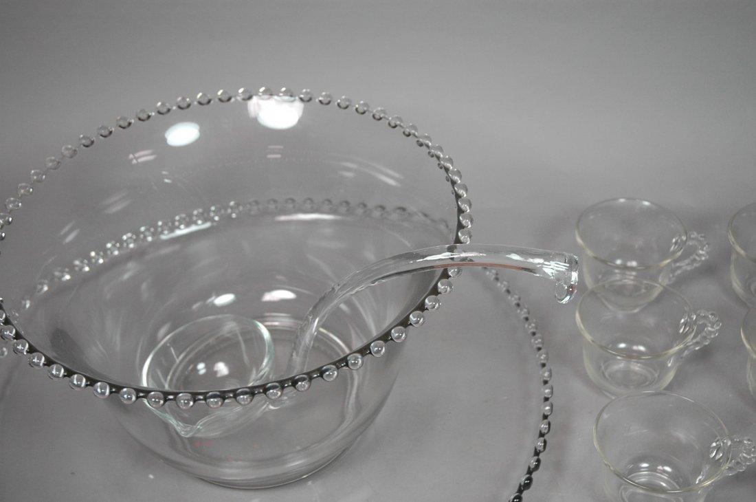 Candlewick Punch Bowl Set. Bowl, Ladle, Tray & 12 - 3