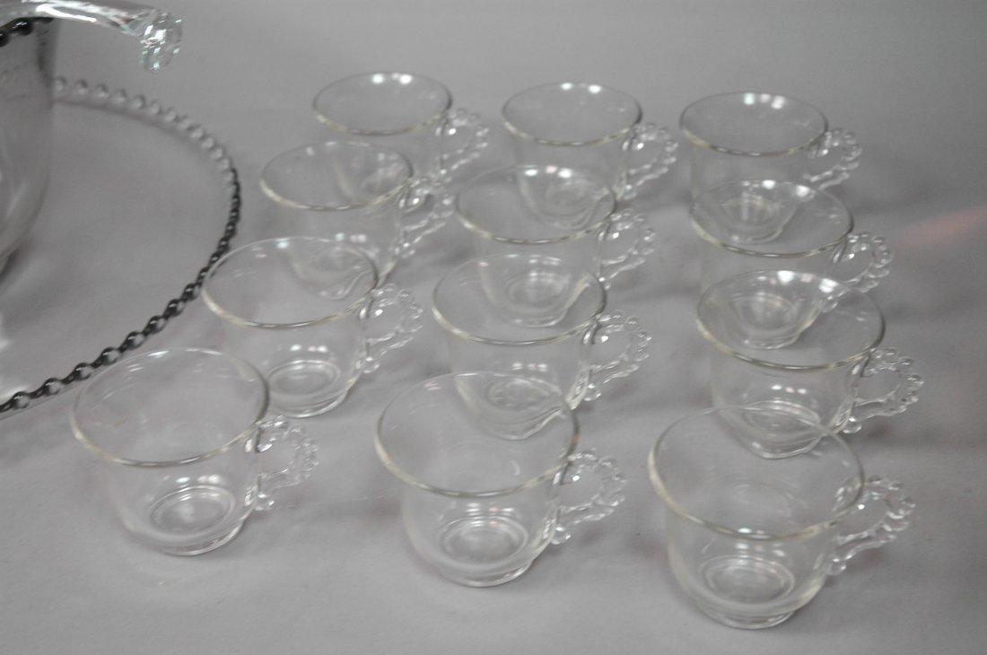 Candlewick Punch Bowl Set. Bowl, Ladle, Tray & 12 - 4