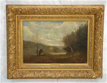 Oil Painting on Canvas Attributed to Corot Impr