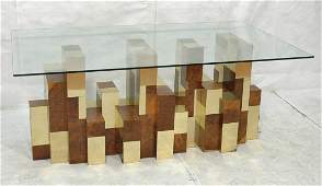 PAUL EVANS City Scape Dining Table. Burled Wood &