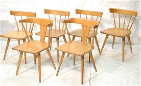 Set 6 PAUL McCOBB Dining Chairs Angled tapered l