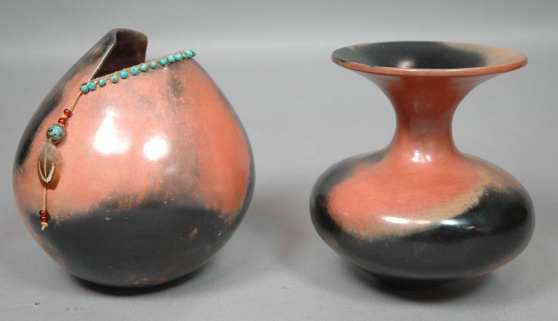 2pcs EFFIE BRENNER Pottery Vases.