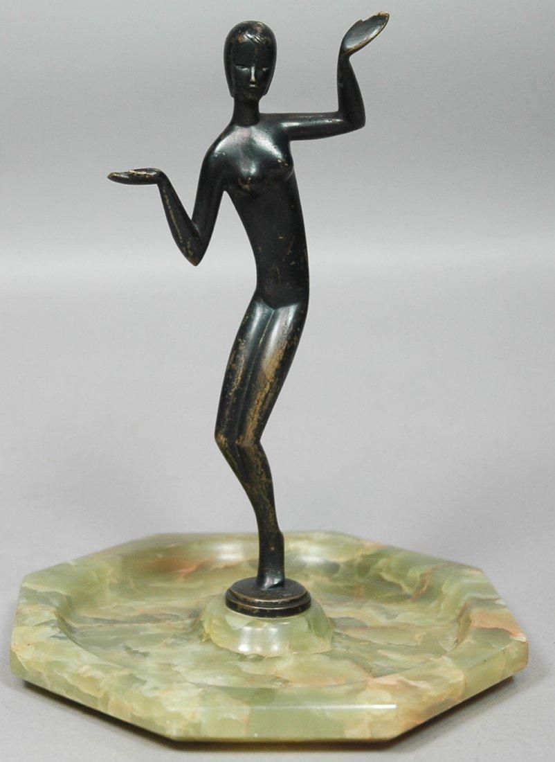 Hagenauer Style Bronze Sculpture Figure of dancer