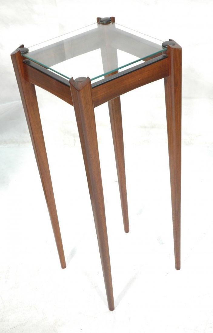 Chad Vorhees Occasional Pedestal Table. Glass and