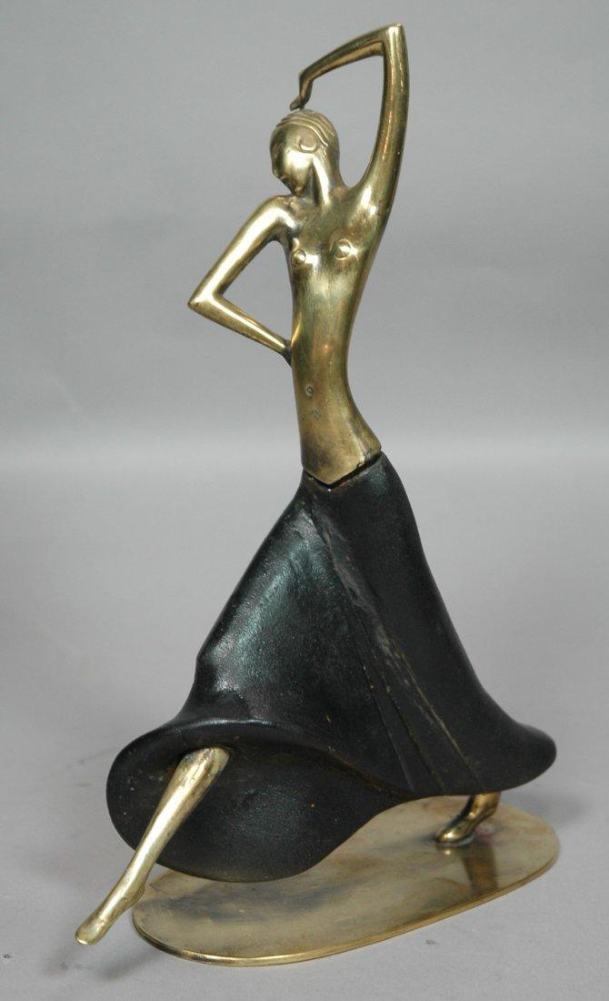 Hagenauer Wiener Werkstatte Dancer Sculpture. Woo