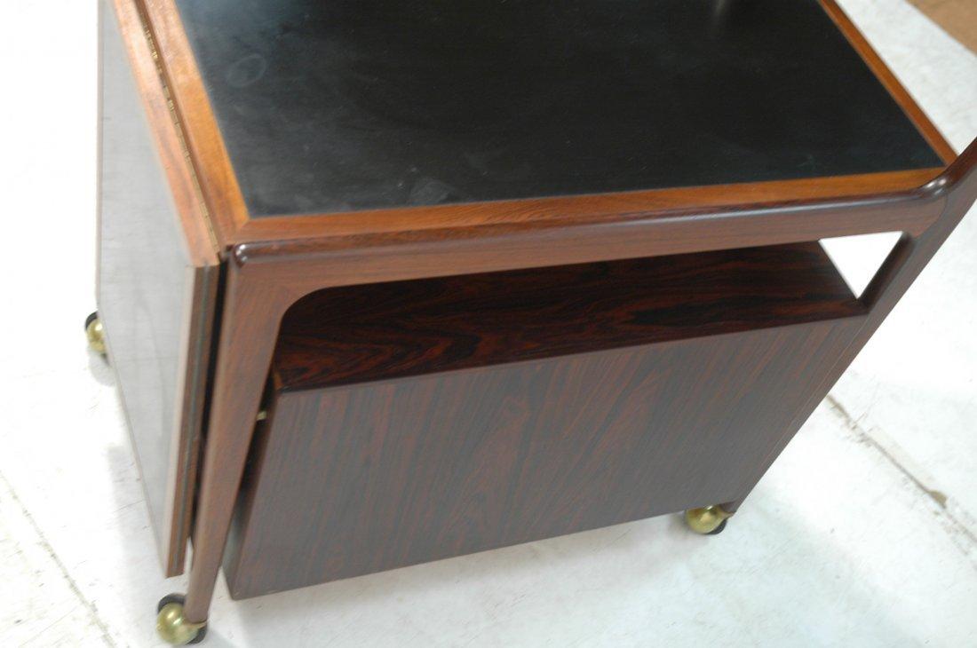 Falster Rosewood Danish Modern Rolling Bar Cart. - 5