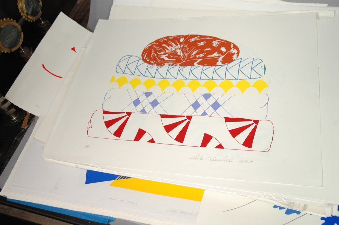 Large Portfolio of SHEILA ROSENFIELD Screen Print - 4