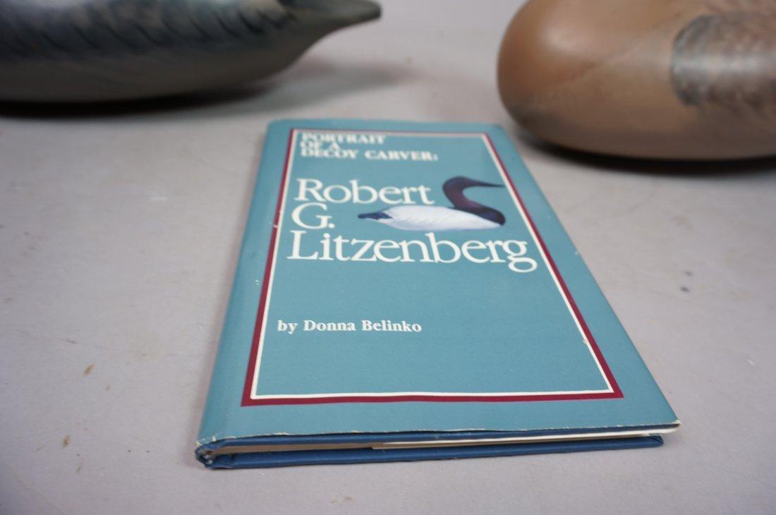 Two Carved Wood Duck Decoys. ROBERT Litzenberg. 1 - 5