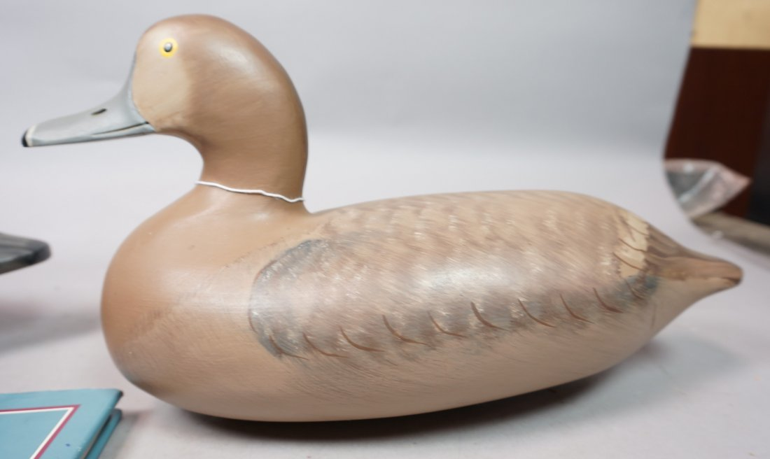 Two Carved Wood Duck Decoys. ROBERT Litzenberg. 1 - 6