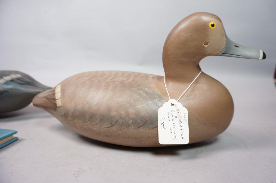 Two Carved Wood Duck Decoys. ROBERT Litzenberg. 1 - 7