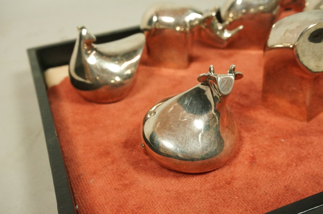 Lot 11 DANSK Silver Plate Animals Paperweights. - 2