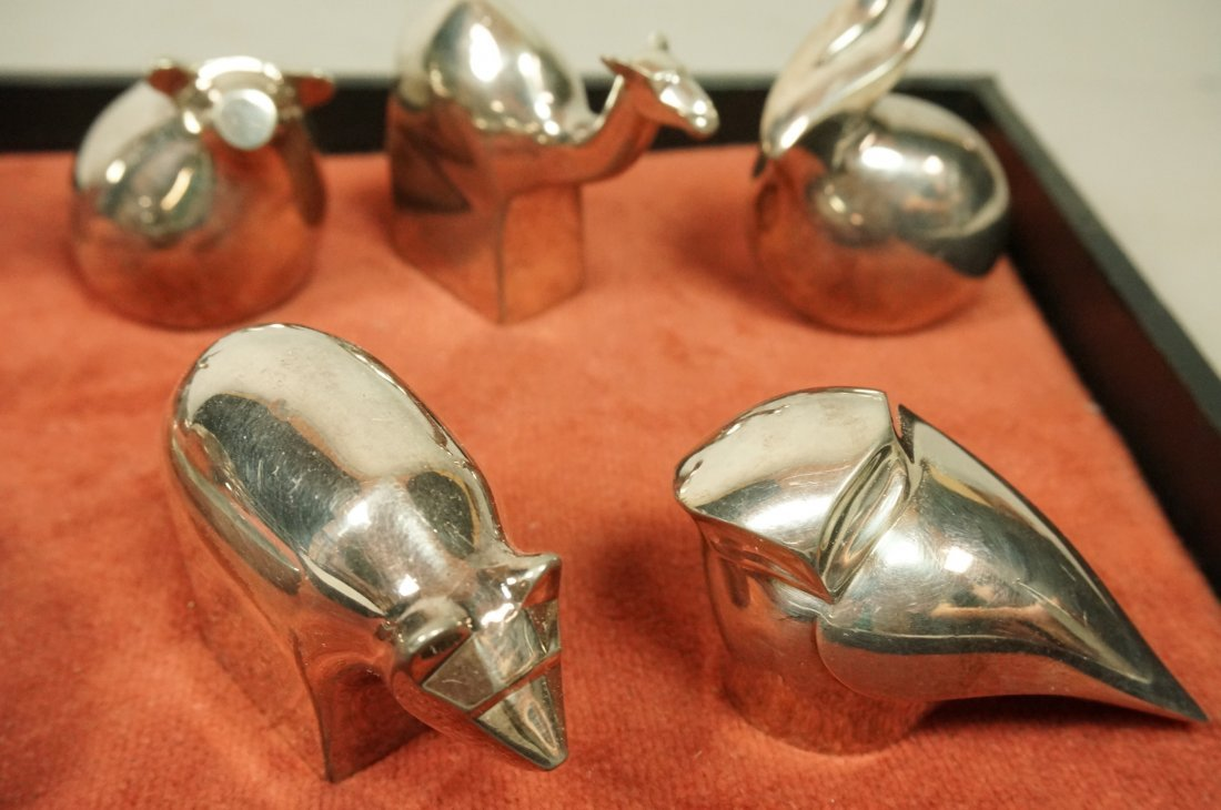 Lot 11 DANSK Silver Plate Animals Paperweights. - 4