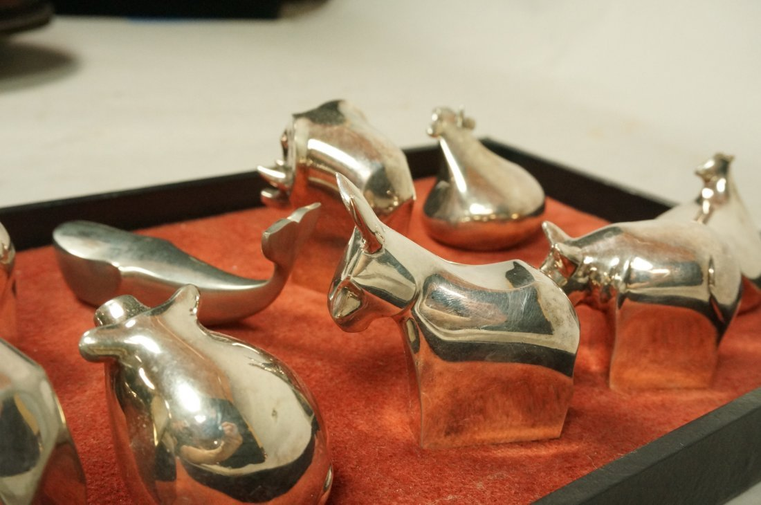 Lot 11 DANSK Silver Plate Animals Paperweights. - 6