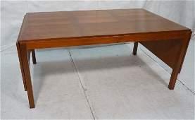 Large Drop Side Danish Teak Dining Table. VEJLE S