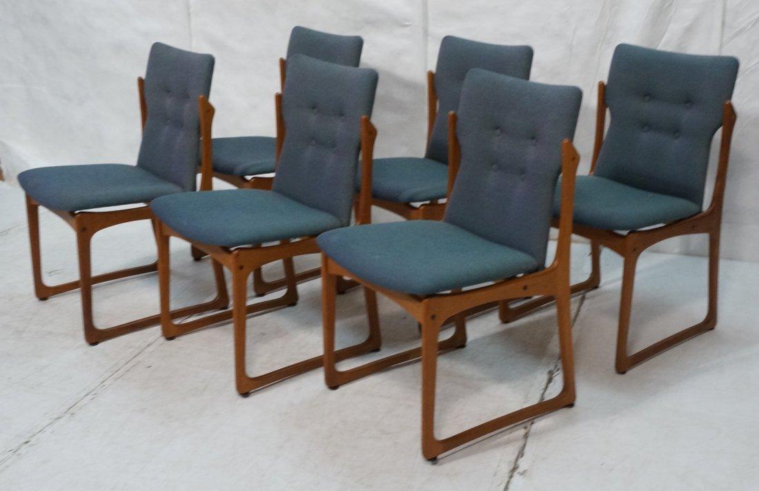 Set 6 ART FURN Denmark Dining Chairs. Teak Danish