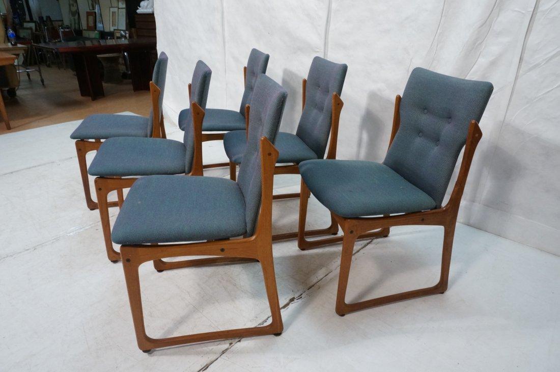 Set 6 ART FURN Denmark Dining Chairs. Teak Danish - 2