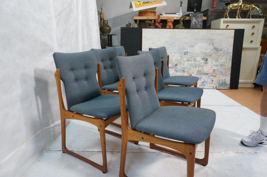 Set 6 ART FURN Denmark Dining Chairs. Teak Danish - 4