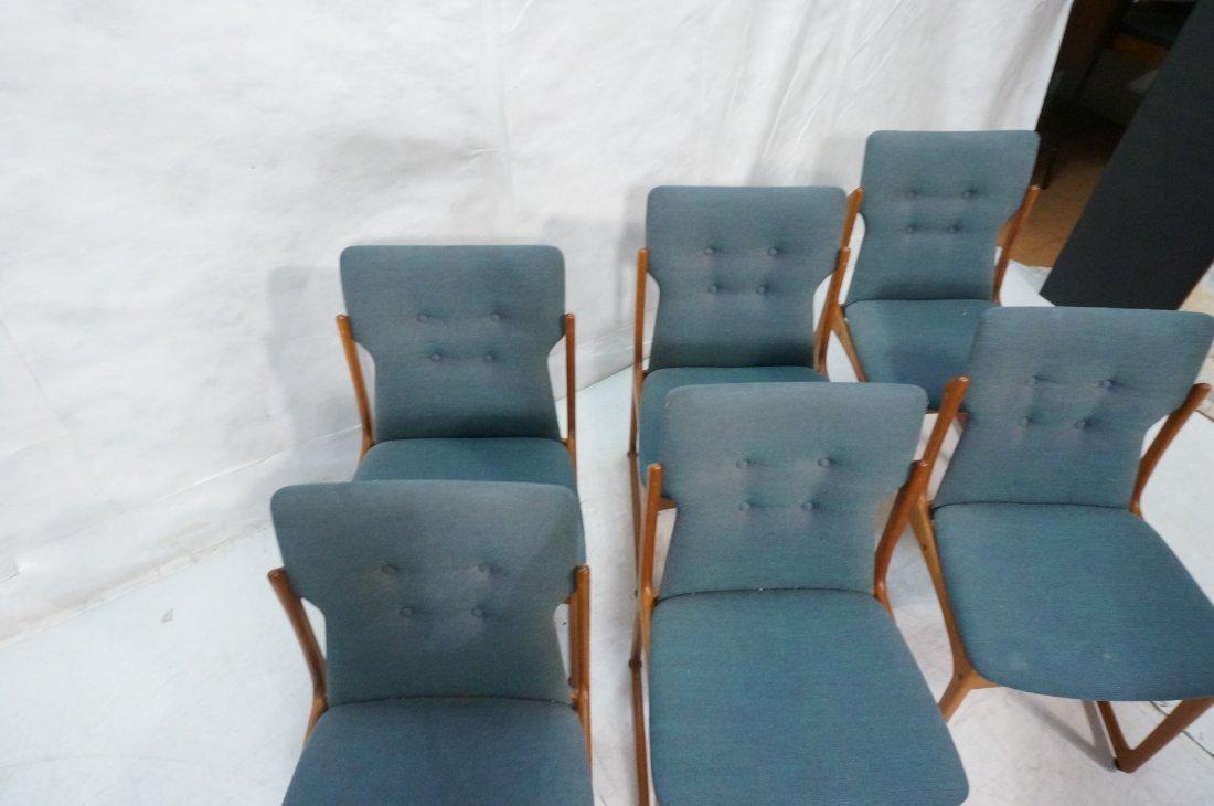 Set 6 ART FURN Denmark Dining Chairs. Teak Danish - 5
