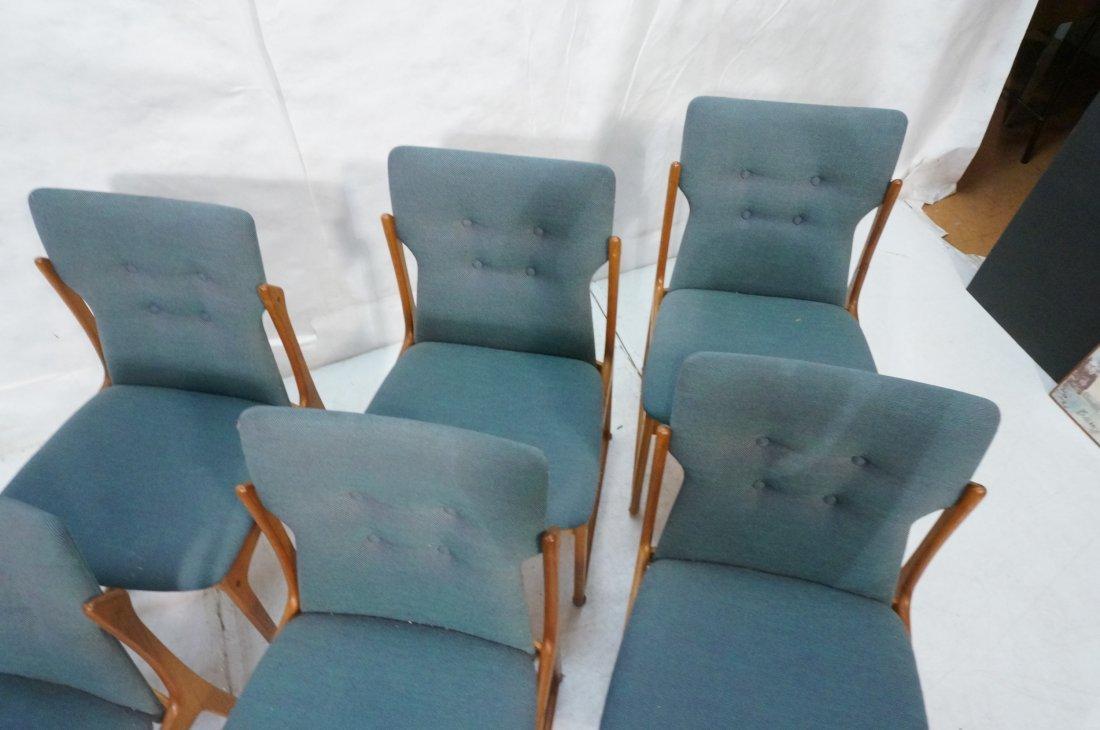 Set 6 ART FURN Denmark Dining Chairs. Teak Danish - 6