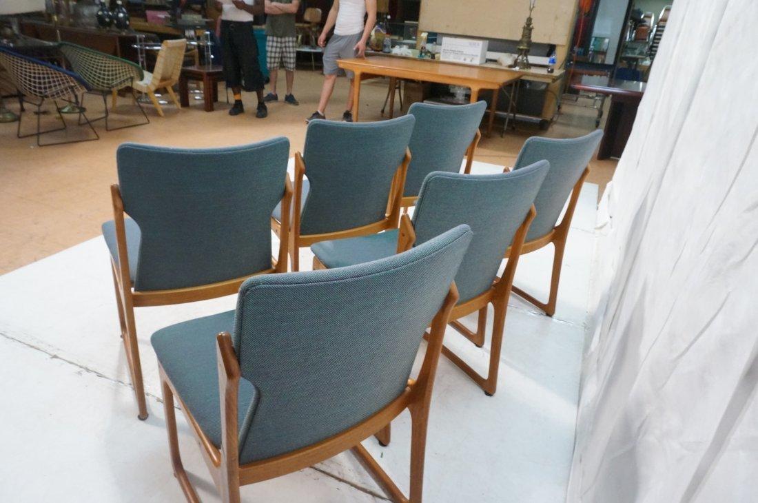 Set 6 ART FURN Denmark Dining Chairs. Teak Danish - 7