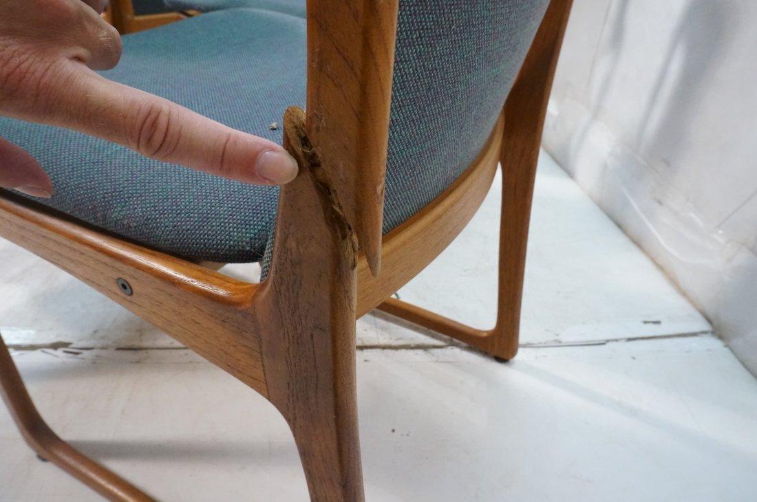 Set 6 ART FURN Denmark Dining Chairs. Teak Danish - 8