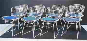Set 8 HARRY BERTOIA Wire Frame Side Chairs. KNOLL