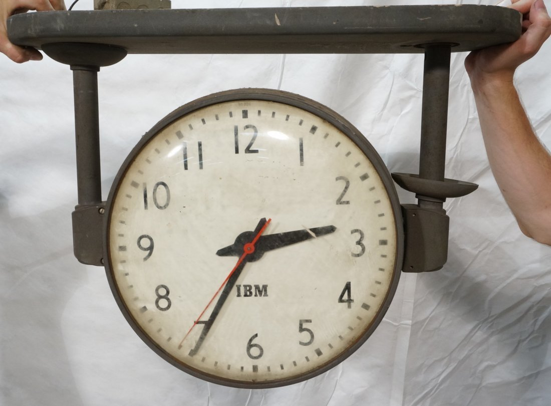 Industrial hanging ibm clock double sided large industrial hanging ibm clock double sided amipublicfo Gallery