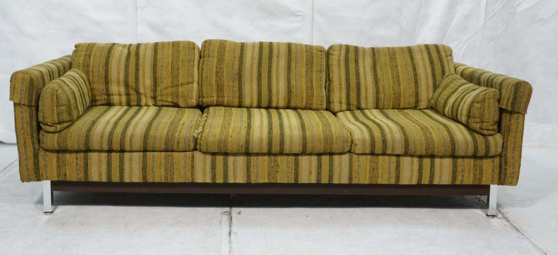 selig vista long sofa couch striped fabric uphol