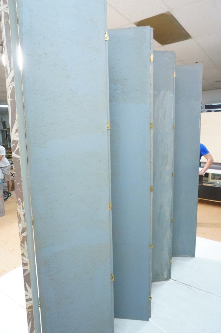 Antique Chinese Painted Room Divider Wallpaper Screen - 8
