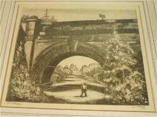 "DOX THRASH ""Old Bridge"" Print. Large Train Bridge"