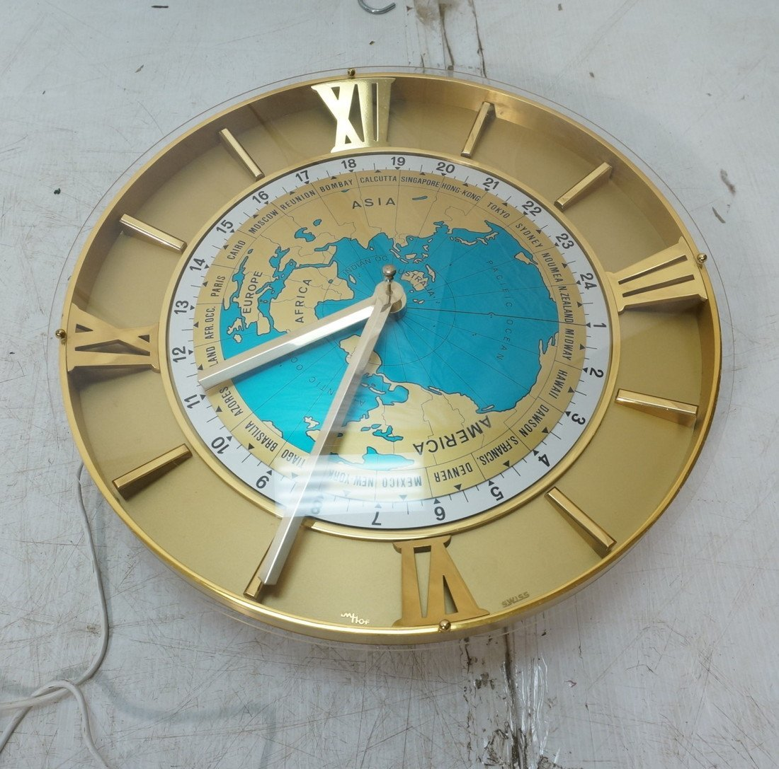 IMHOF Swiss Made World Time Wall Clock Rou